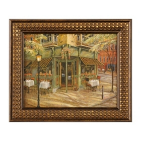 Mandi's Cafe Framed Art Print