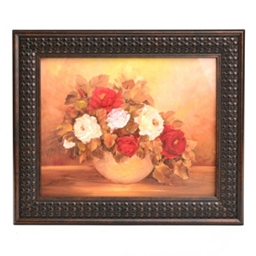 Autumn Floral Fire I Framed Art Print