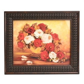 Autumn Floral Fire II Framed Art Print