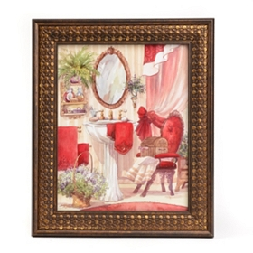 Victorian Red Bath I Framed Art Print