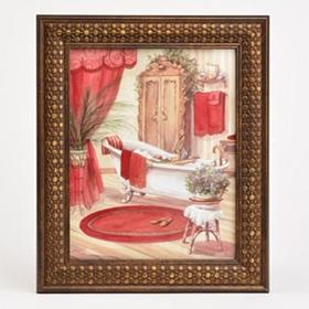 Victorian Red Bath II Framed Art Print