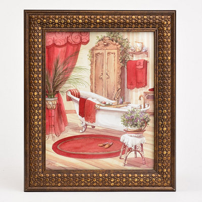 Victorian Red Bath II Framed Art Print