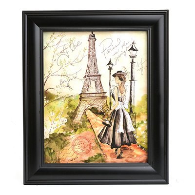 Paris in Spring I Framed Art Print