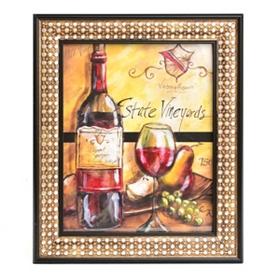 Wine and Fruit I Framed Art Print