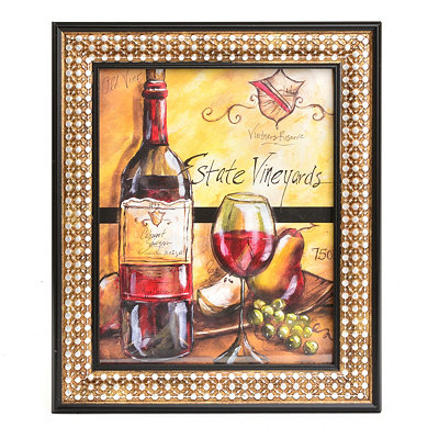 Wine and Fruit I Framed Art Print