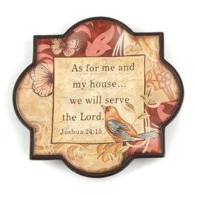Serve the Lord Decorative Plate