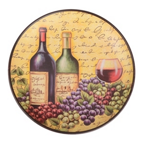 A Glass of Wine Decorative Plate