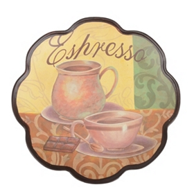 Cup of Espresso Decorative Plate