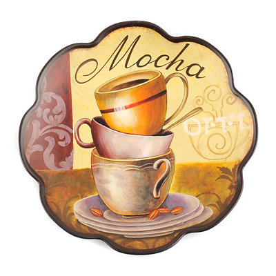 Cup of Mocha Decorative Plate