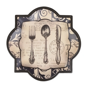 Fancy Flatware Decorative Plate