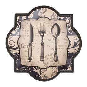 Floral Flatware Decorative Plate