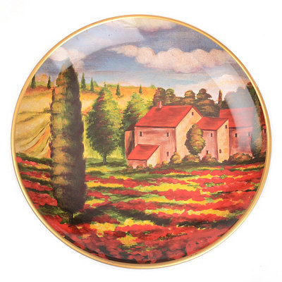 Distant Villa Decorative Plate