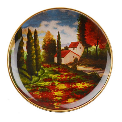Hidden Villa Decorative Plate