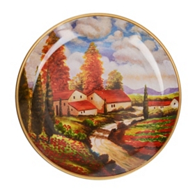 Road to the Villa Decorative Plate