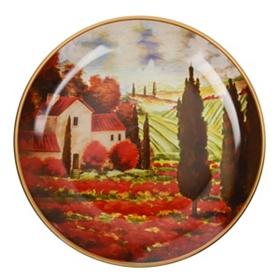 Villa View Decorative Plate