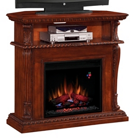 Corinth Cherry Fireplace Entertainment Center