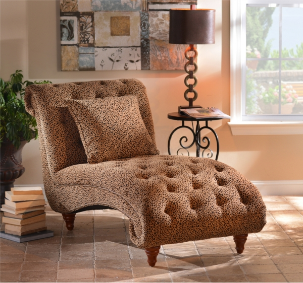: cheetah chaise - Sectionals, Sofas & Couches