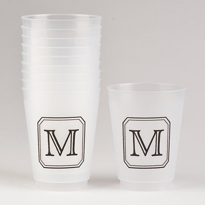 Black Stacked Monogram M Cups