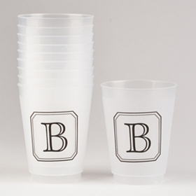 Black Stacked Monogram B Cups