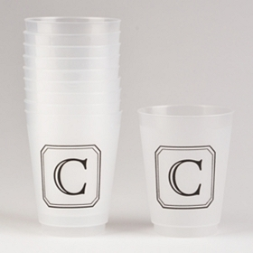 Black Stacked Monogram C Cups