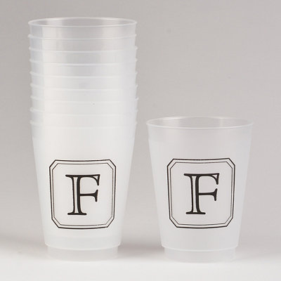 Black Stacked Monogram F Cups