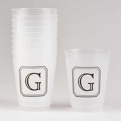 Black Stacked Monogram G Cups