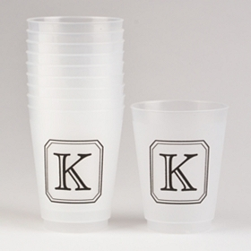 Black Stacked Monogram K Cups