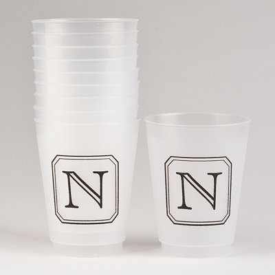 Black Stacked Monogram N Cups