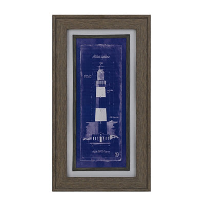 Lighthouse Blueprint I Framed Art Print