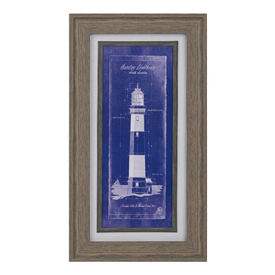 Lighthouse Blueprint II Framed Art Print