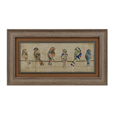 Patterned Birds I Framed Art Print