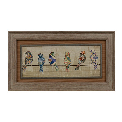 Patterned Birds II Framed Art Print