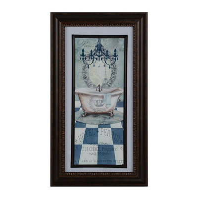 French Turquoise Bath I Framed Art Print