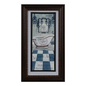 French Turquoise Bath II Framed Art Print