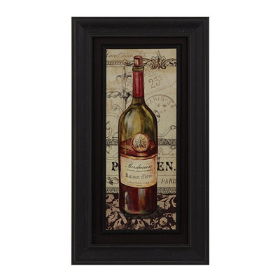 French Red Wine Framed Art Print