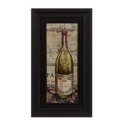 French White Wine Framed Art Print