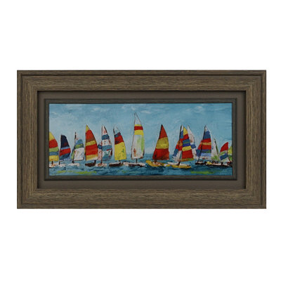 Sailboats Framed Art Print