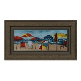 Beach Umbrellas Framed Art Print