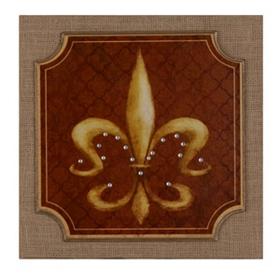 Spice & Gold Fleur-de-Lis Wall Plaque