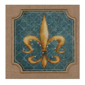 Blue & Gold Fleur-de-Lis Wall Plaque