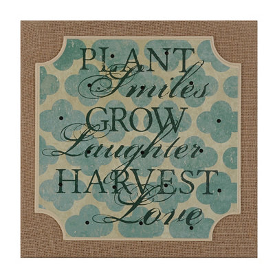 Plant, Grow, Harvest Burlap Plaque