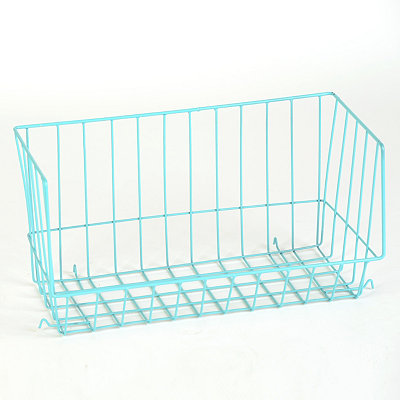Blue Wire Stacking Basket