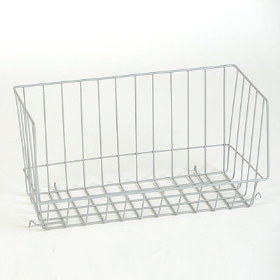 Gray Wire Stacking Basket
