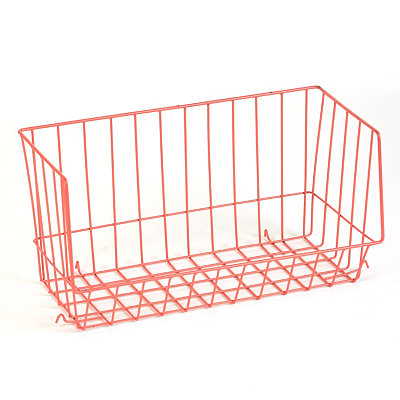 Red Wire Stacking Basket