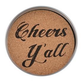 Cheers Y'all Mason Jar Coaster