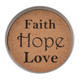 Faith Hope Love Mason Jar Coaster