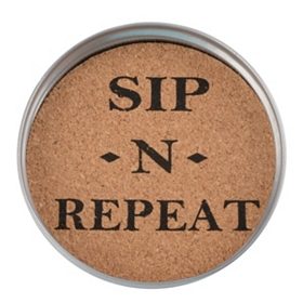 Sip 'N' Repeat Mason Jar Coaster