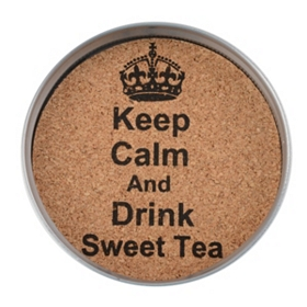 Drink Sweet Tea Mason Jar Coaster