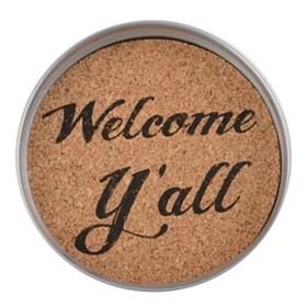 Welcome Y'all Mason Jar Coaster