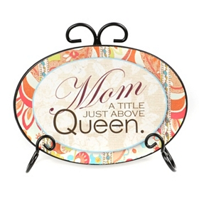Mom Sentiment Plate